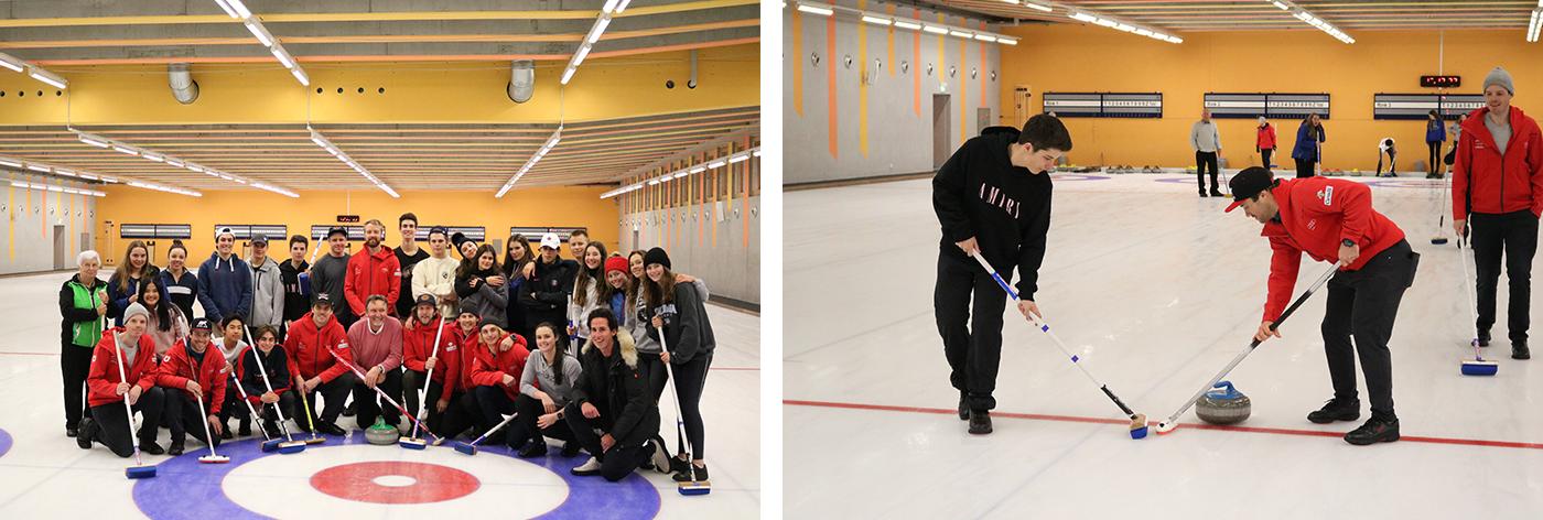 Canada Ski Cross team on campus