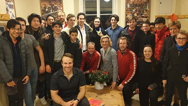 Canada Ski Cross Team visit Le Rosey
