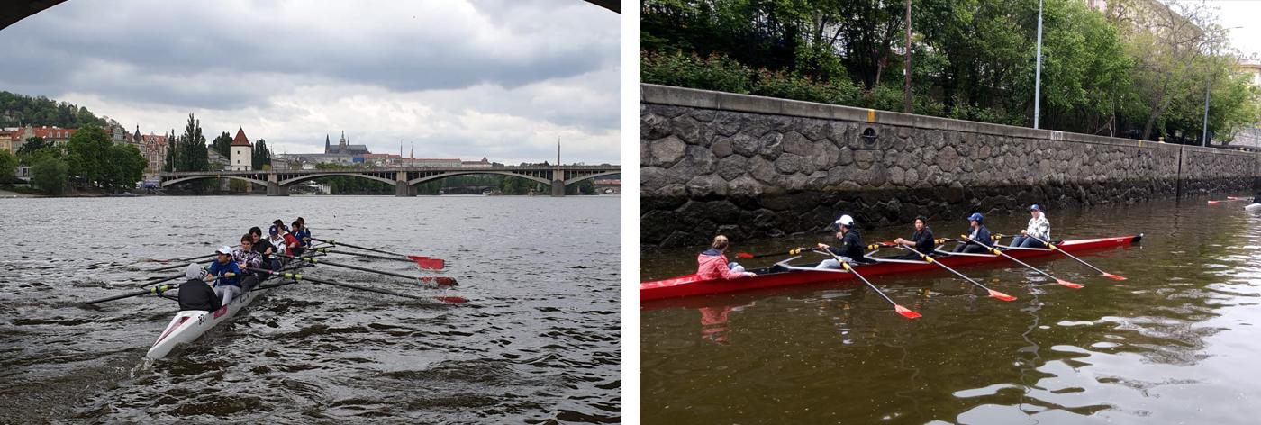 Rowing trip to Prague